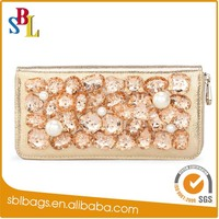 The golden diamond ladies purse, the most popular women wallets