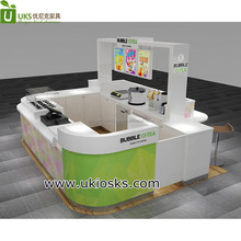 2017 Modern 3d ice cream kiosk with bubble tea kiosk design for shopping mall