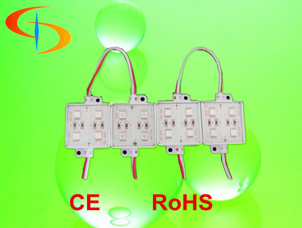 40mm 4 chips led Injection Module rohs ce smd 5050 led module for outdoor advertising
