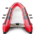 RIB inflatable boat fiberglass hull inflatable boat RIB520 pvc tube