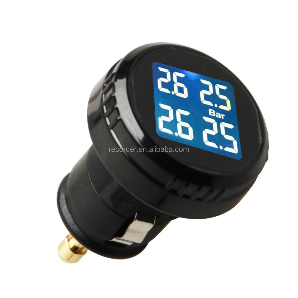 Smart Car TPMS Tyre Pressure Monitoring System charging Digital LCD Display Auto Security Alarm Systems for truck