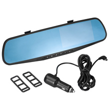 double camera rearview mirror manual car camera hd dvr