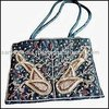 fashion shopping bag /beautiful embroidery bead party bag / lady travel bag