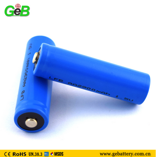non-rechargeable LiFeS2 1.5v 2900mah aa battery with long life
