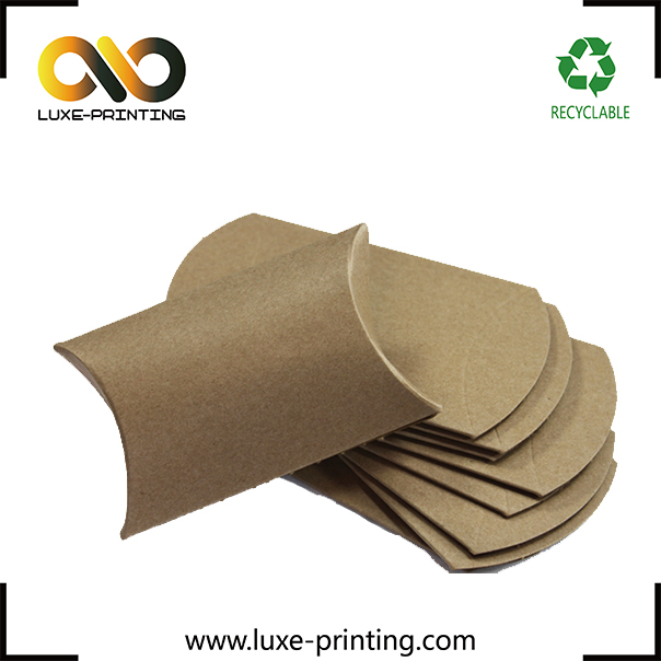 Bamboo pulp recycled paper packaging boxes custom pillow box