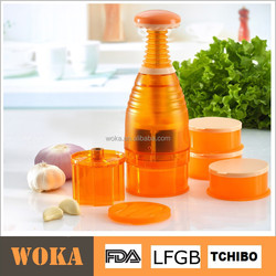 Multifunctional Vegetable Grinder, Garlic Press, Food Chopper with Changable Blades
