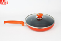 Orange colorful aluminum cookware non stick pan frying pan