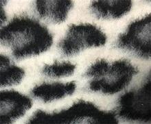 QY-401 brushed wool jacquard fabric with leopard print design