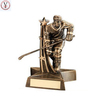 Factory Custom made best home decoration gift polyresin resin hockey player statue