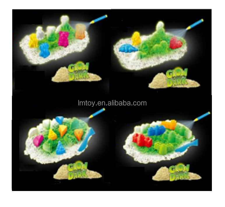 Glow in the Dark Cake Magic Modeling Sand 3D Series, Kids Educational Toys