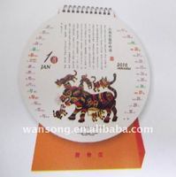 hot fashion printing advertsing custom calendar, desk calendar designs