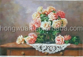 Best Selling Products Modern Handmade Canvas Oil Flower Painting Model