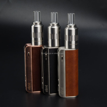 Leather and stainless combine best quality 3 in 1 wax cbd hemp thc oil vaporizer World's first Separated baking dry herb device