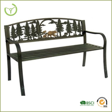 Outdoor garden metal tube park benches