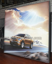 Aluminum frameless LED free standing fabric lightbox with support feet