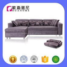 S4903 Headrest Adjustable Function Corner Sofa Cum Bed