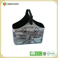 Fascinating bicycle&butterfly pattern folding cloth shopping basket