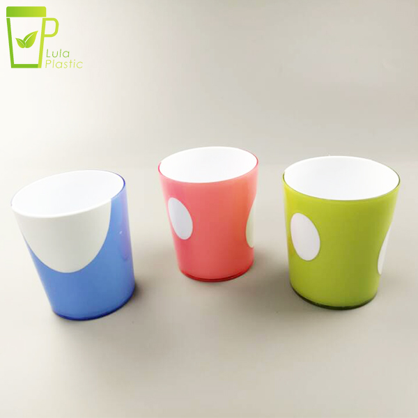 good quality ps new material Plastic cup advertising traveling outdoor portable picnic beverage juice cup