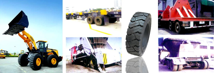 323x100(12 3/4 x4) scissor lift solid tire