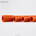 Wire protection orange heat resistant PVC underground 25mm conduit tube
