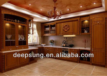 2013 new solid wood kitchen cabinet design