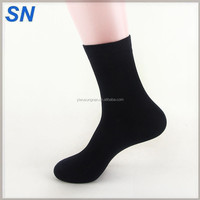 Double needle Mens Thermal Black bamboo cotton polyester winter socks