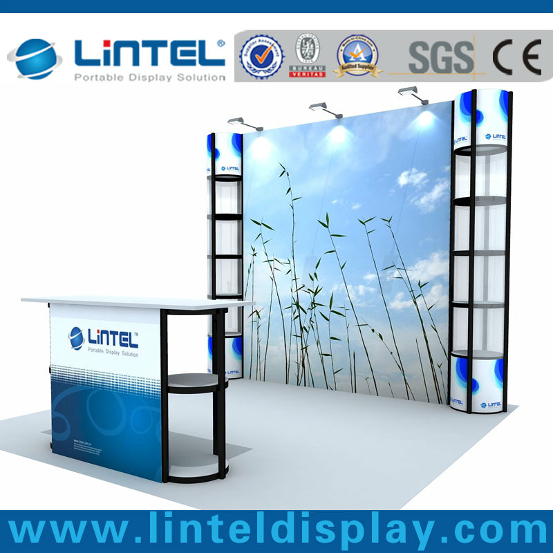 economic recyclable trade show display booth system