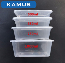 Kamus Disposable Clear Plastic Takeaway Food Container