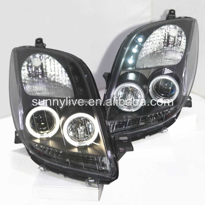 For Toyota Yaris For Toyota Vitz LED Angel Eyes headlamp for 2006 to 2010