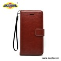Brown Wallet case for Samsung S8 PU leather