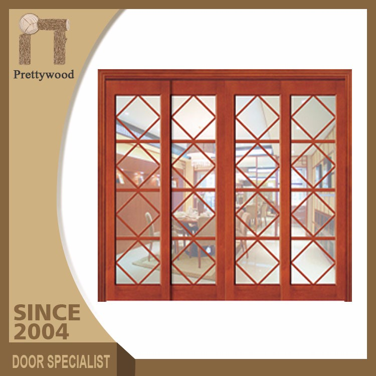 Competitive Price Wooden Frame Cheap Grilles Sliding Arched Glass Doors
