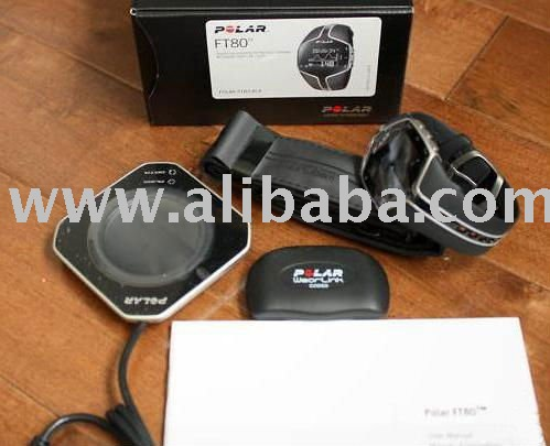 NEW 2011 Polar FT80 Black / White Heart Rate Monitor