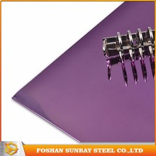 Supplier Cheap Price Cold Rolled Ss 201 Purple Mirror Finish Stainless Steel Sheets
