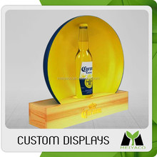 Unique hot-sale acrylic/pvc drinks display shelf