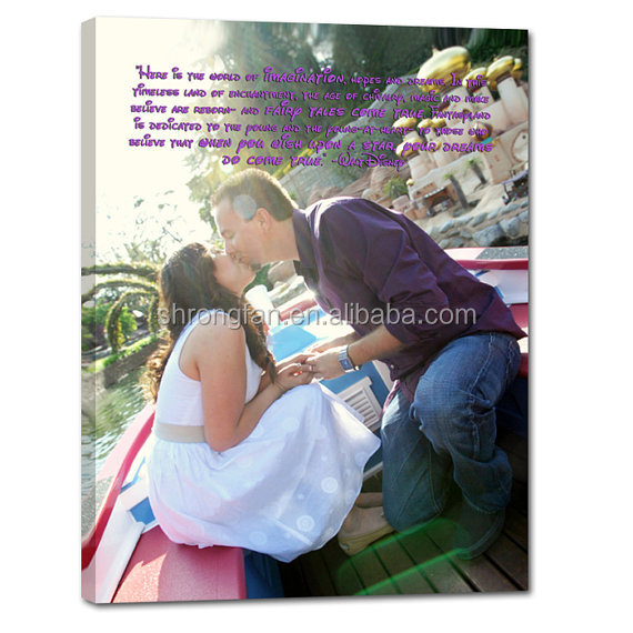 Personalized unique wedding present photo Interior house landscape custom canvas champ