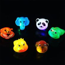 Latest arrival OEM quality lovely various animals panda tiger elephant monkey cartoon flashing ring