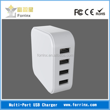 FORRINX 4 Port USB Desktop High Speed Charging Station with Intelligent Auto Detect Technology. Perfect for Iphone, Ipad