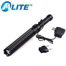 10 Watt led baton self denfensive flashlight with telescope and flexible for self defense tool flashlight