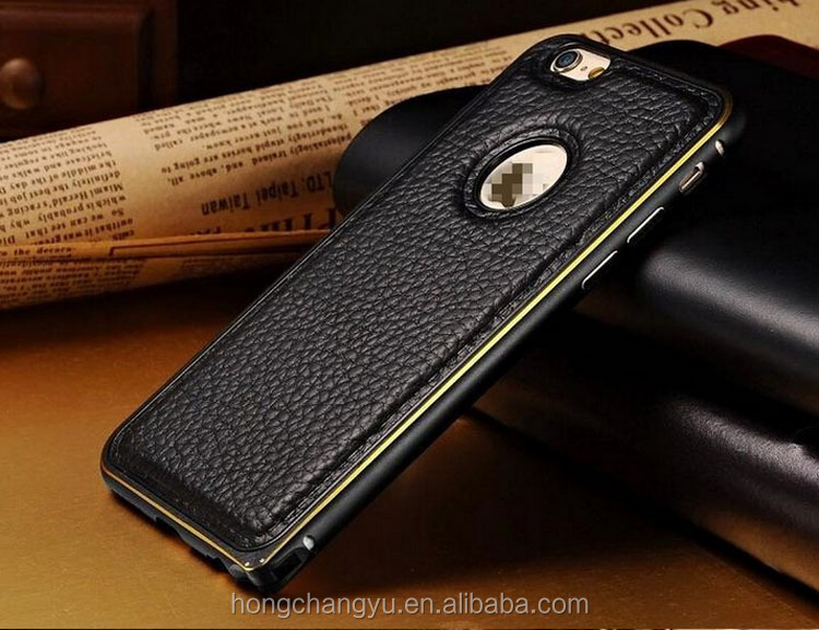 Best selling Plating leather mobile accessories phone case for iPhone 7