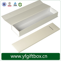 White printed logo fancy packaging boxes customized logo wholesale cheap hair extension packaging