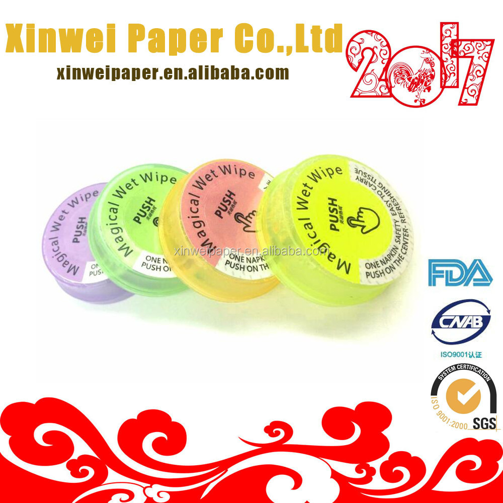 Magical new product functional wipes compressed wet tissue
