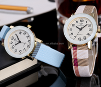 Women Quartz Watch Fashion Classic Plaid Leather Band
