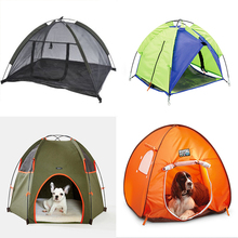 Hot pet products durable oxford fabric foldable water proof dog bed tent
