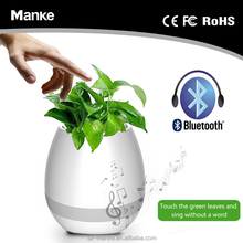 Best Selling bluetooth Plastic shell smart music flower pot real plant speakers nursery pots for home/office decoration