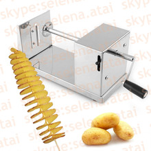 Stainless Steel Manual Tornado Spiral Potato Chips Twister Vegetable Cutter