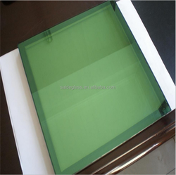 High quality color float glass 6mm green grey tinted glass Decoration construction colored glass for building with factory
