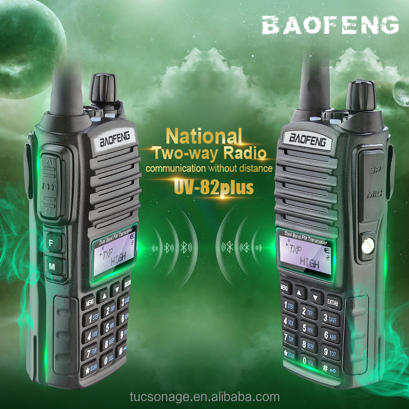 Long Range PTT Dual Band handy Walkie Talkie 5W Baofeng UV-82 mobile Transceiver With Big Capacity