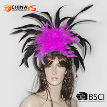 2016 Carnival hot selling New designed Fashion female flower feather headbands
