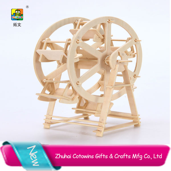 Towins adult and children toys jisaw 3d puzzle wooden model building block toy