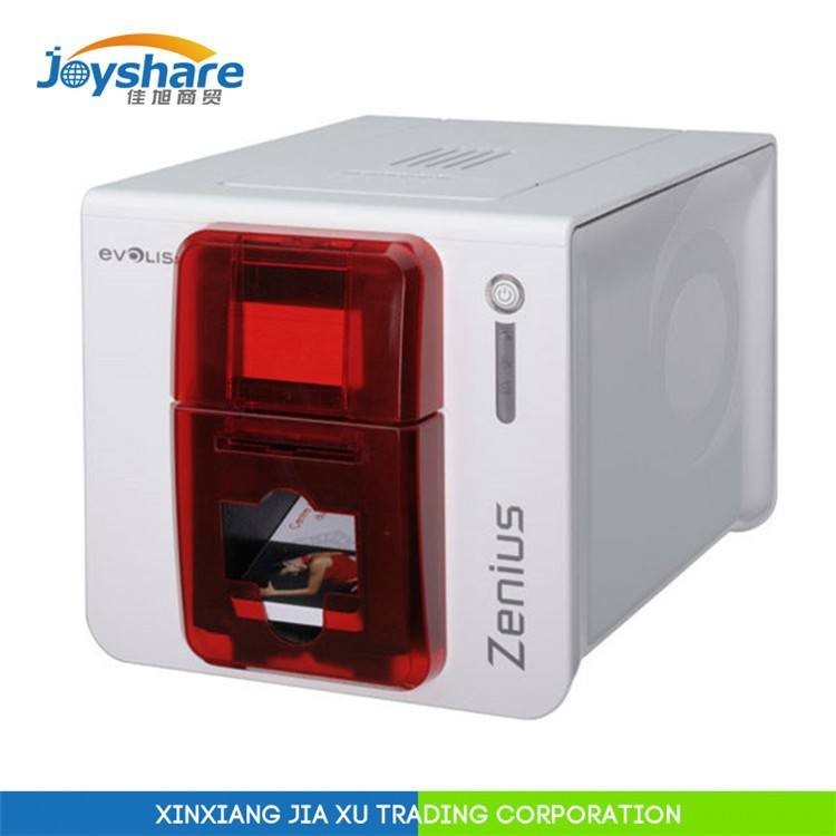 factory authorized reseller evolis zenius edge-to-edge desktop cheap plastic id card machine 300dpi